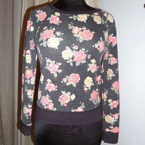 🌻DECREE Sweater Pullover Black floral Sz. XS 🌷